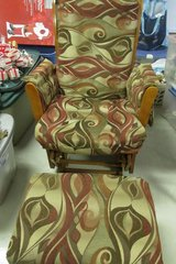 Glider/Rocker with footstool in Clarksville, Tennessee