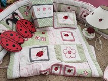 Baby girl crib bedding and accessories in Travis AFB, California