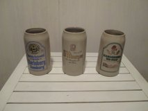 beer mugs from local breweries in Ramstein, Germany
