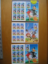 WARNER BROTHERS DAFFY DUCK, ROAD RUNNER, WILE E COYOTE POSTAGE STAMPS in Sugar Grove, Illinois