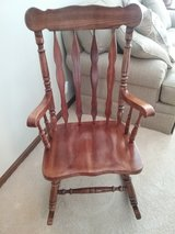 Solid Oak Rocking Chair in Chicago, Illinois