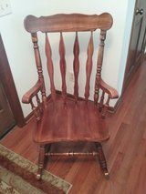 Solid Oak Rocking Chair in Morris, Illinois