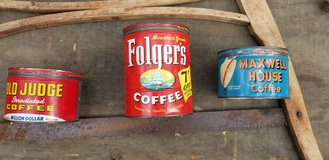 Antique Coffee cans in Warner Robins, Georgia