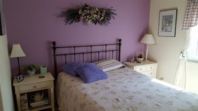 Metal Queen Bed with Firm Mattress in Travis AFB, California