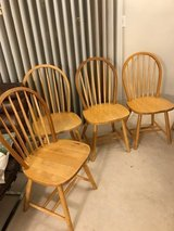 4 wood chairs in Chicago, Illinois