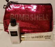 NWOT Victoria Secret red sequins bag, Heavenly body lotion & Heavenly body wash in Spring, Texas