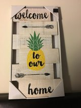 "NIP ""Welcome to our home"" Wood Hanging Wall Art in Camp Lejeune, North Carolina"