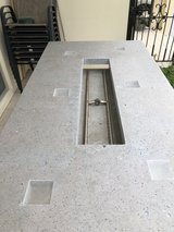 6 Place Concrete Fire Pit Patio Table in Okinawa, Japan