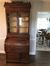 Walnut Cylinder Bookcase in Cherry Point, North Carolina