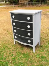 antique bow front chalk painted chest in Cherry Point, North Carolina
