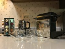 Nespresso pixie espresso machine with frothier and accessories in Westmont, Illinois