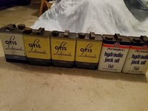 Vintage oil cans with oil buyout in Joliet, Illinois