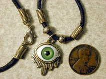 Weeping Eyeball Charm Pendant Necklace Choker in Westmont, Illinois