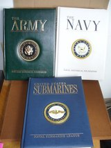 3 MILITARY BOOKS--ARMY, NAVY & SUBMARINES in Westmont, Illinois