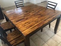 Large Wooden Dining Table and 6 Chairs in Travis AFB, California