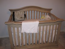 Baby Cache 4n1 convertible Crib w/toddler guard rail & mattress!!! in Fort Campbell, Kentucky