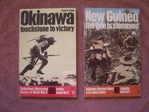 2 books:  (1) Okinawa and (2) New Guinea in Wiesbaden, GE
