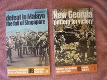 Two Military Books:  (1) Defeat in Malaya and (2) New Georgia in Stuttgart, GE