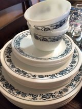 Blue flower Corelle by Corning Ware dish set in Conroe, Texas
