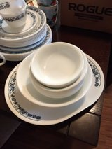 White Corelle dish set by Corning Ware in Conroe, Texas