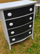 antique bow front chalk painted dresser in Cherry Point, North Carolina