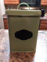 Green tin with lid in Conroe, Texas