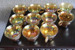 Carnival Glass Marigold cups  set of 12 in 29 Palms, California