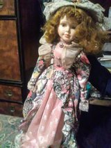Vintage porcelain Victorian doll in Yucca Valley, California