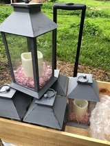 Black lantern tea lights with decor in Travis AFB, California