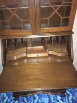 mahogany all wood secretary desk in Fort Campbell, Kentucky