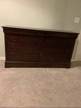 Queen sleigh bed and dresser in Westmont, Illinois