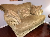 Living Room Set -  couch, loveseat, chair, lamp, table, ottoman in Naperville, Illinois