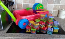 29 Fisher price peek a boo blocks and activity wagon in Lakenheath, UK