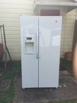 GE Energy Star 25.3 Cu. Ft. Side-By-Side Refrigerator with Dispenser in Leesville, Louisiana
