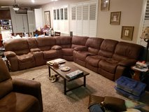 Large Sectional Sofa - Microsude Fabric in Travis AFB, California