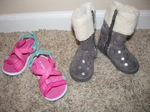 Cute Silver Boots Toddler Size 5, Pink Carter Sandals Size 5 in Naperville, Illinois