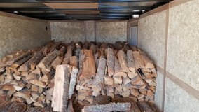 Firewood and wooden planks in Fort Bliss, Texas