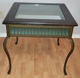 Glass and Iron Side Table in Kingwood, Texas