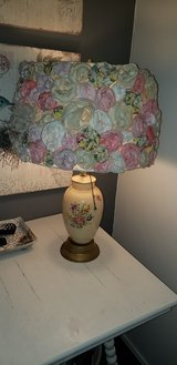 Vintage Lamp with Quilt Roses in Kingwood, Texas