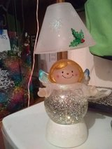 battery operated color changing snow globe angel lamp in Warner Robins, Georgia