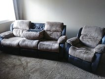 Reclining Sofa Couch and Recliner in Travis AFB, California
