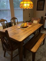 Solid wood Kitchen Table set with bench! in Kingwood, Texas