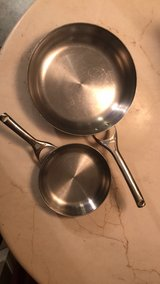 Calphalon Stainless Steel Fry Pan Set in Conroe, Texas