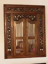 Gorgeous large hand carved wooden Bali Mirror!!! in Kingwood, Texas