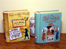 Pair of Girl Scout Cookie Book-Style Storage Containers / Tins / Trinket Boxes in Chicago, Illinois