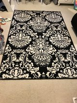 black and white rug in Kingwood, Texas