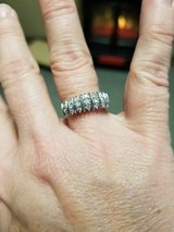 Beautiful 1/2 Carat Solid Sterling Silver Diamond  Ring in Elgin, Illinois