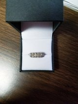 Beautiful 1/2 Carat Solid Sterling Silver Diamond Ring . in Elgin, Illinois