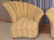 Gorgeous High Style Vintage Hollywood Regency  Channel Back Lounge Chair-Art Deco in Lockport, Illinois