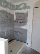 Professional bathroom tile setting in Yucca Valley, California